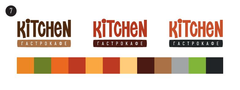 07 Логотип для кафе «Kitchen»