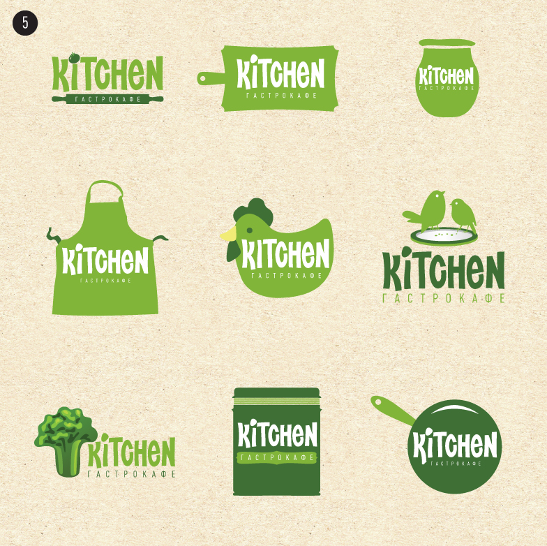 121112 Логотип для кафе «Kitchen»