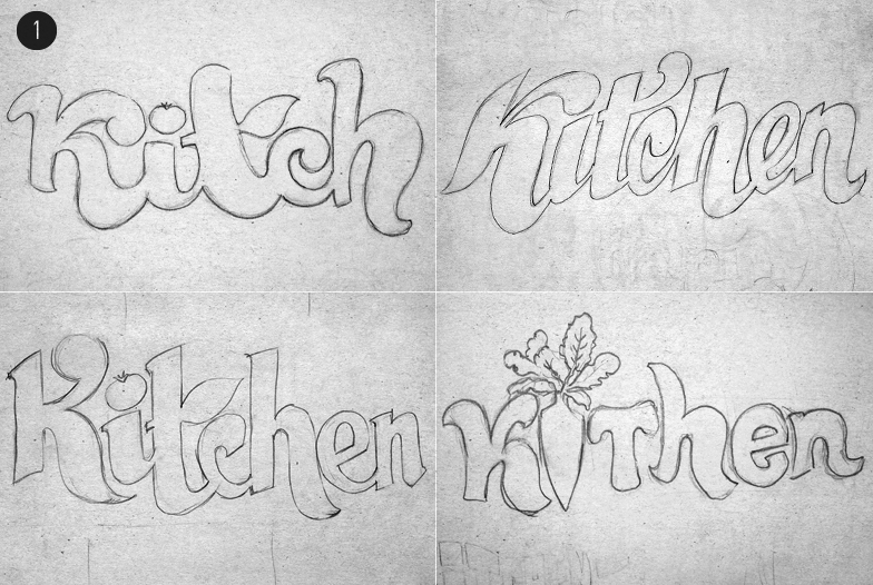 121234 Логотип для кафе «Kitchen»