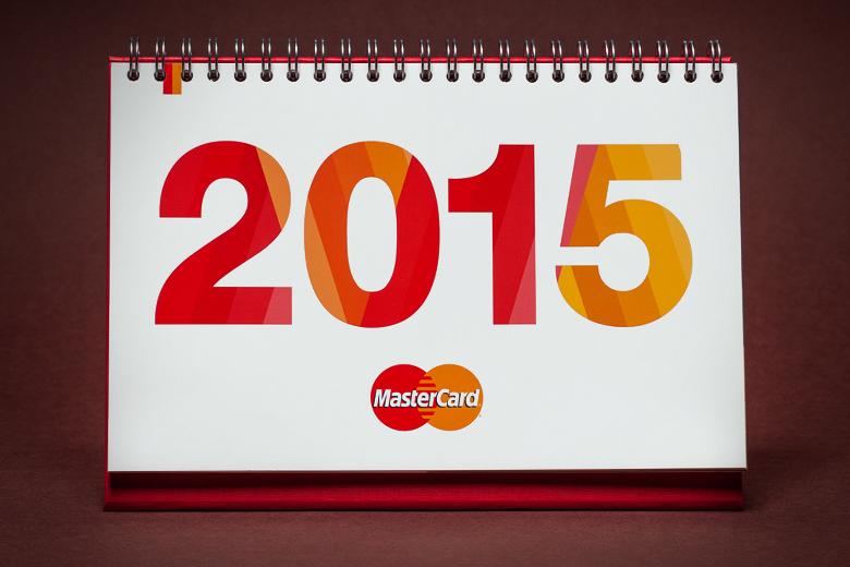 cover MasterCard calendar 2015